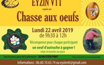 Chasse aux oeufs 22/04/2019